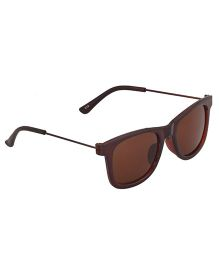 Spiky Classic Wayfarer Kids Sunglasses - Brown