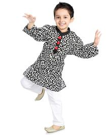 Little Pockets Store Kurta Pajama Set - Black