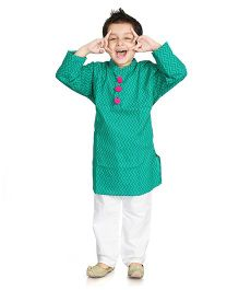 Little Pockets Store Kurta Pajama Set - Green