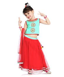 Little Pockets Store Lehenga Set - Red