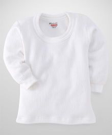 Bodycare Full Sleeves Striped Thermal T-Shirt - Off White
