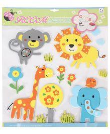 Multi Animals Printed Room Decor Sticker - Multicolor