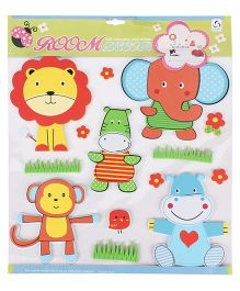Animal And Lion Shaped Room Decor Sticker - Multicolor