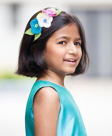 Keira's Pretties Felt Flower Cluster Bouquet Hair Band- Multicolor