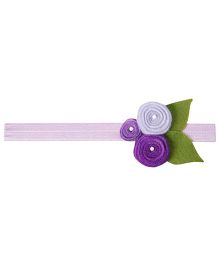 Keira's Pretties Infant Shimmery Headband With Felt Rossettes Cluster - Lavender