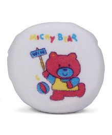Round Shape Micky Bear Print Bath Sponge (Color May Vary)