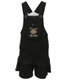Benext Sleeveless Embroidered Dungaree - Black