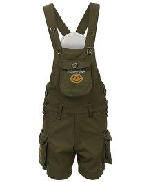 Benext Sleeveless Embroidered Dungaree - Green