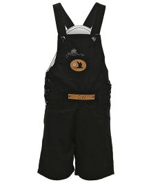 Benext Sleeveless Embroidered Dungaree With Patch - Black