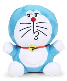 Doraemon Naughty Plush Soft Toy Blue - Height 25 cm