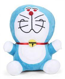 Doraemon Plush Soft Toy Blue And White - Height 25 cm