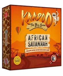 Kaadoo Migration Mania African Savannah Edition Board Game - Orange