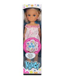 Nancy Flowers Doll Pink - 42 cm