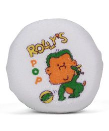 Round Shape Rolly Pop Print Bath Sponge - Orange Green