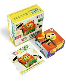 Genius Box Bugs 6 in 1 Wooden Cube Puzzle - Multi Color