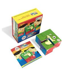 Genius Box Colors 6 in 1 Wooden Cube Puzzle - Multi Color