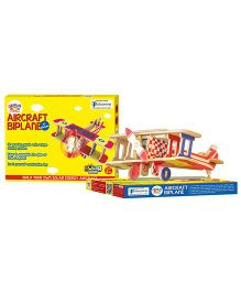 Genius Box Biplane 3D Wooden Puzzle Multicolor - 17 Pieces