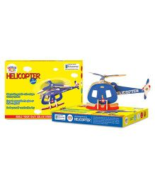 Genius Box Helicopter B 3D Wooden Puzzle Multi Color - 11 Pieces