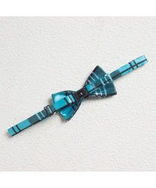 Pikaboo Checkered  Satin Bow Tie - Blue And Black