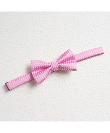 Pikaboo Polka Cotton Bow Tie - Pink And White