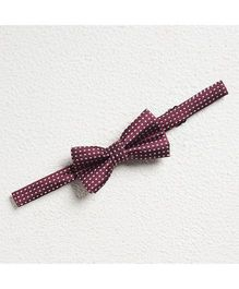 Pikaboo Polka Cotton Bow Tie - Brown And White