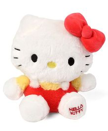 Hello Kitty Plush Soft Toy With Bow White & Red - 20 cm