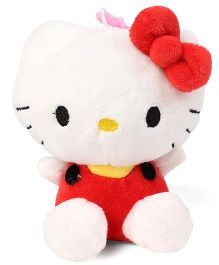 Hello Kitty Plush Soft Toy With Bow White & Red - 11 cm