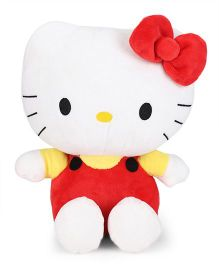 Hello Kitty Plush Soft Toy White & Red - Height 25 cm