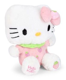 Hello Kitty Plush Soft Toy White & Light Pink - Height 23 cm