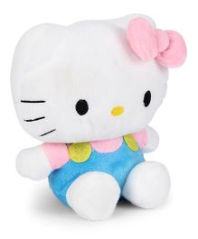 Hello Kitty Plush Soft Toy With Bow Light Blue & White - Height 35 cm