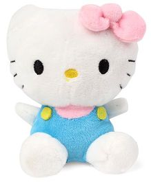 Hello Kitty Plush Soft Toy With Bow White Blue Pink - 11 cm