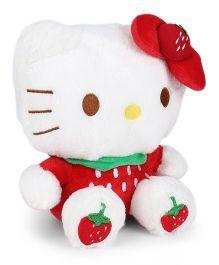 Hello Kitty Sitting Plush Soft Toy Red & White - Height 23 cm