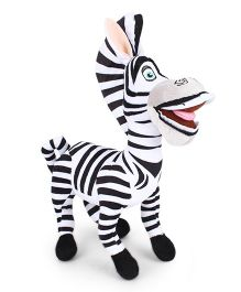 Madagascar Marty Plush Soft Toy Black And White - Height 25 cm