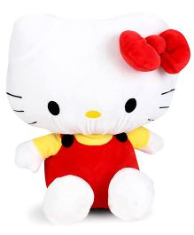 Hello Kitty Plush Soft Toy With Bow White And Red - 35 cm