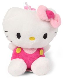 Hello Kitty Plush Soft Toy With Bow White And Pink - 11 cm