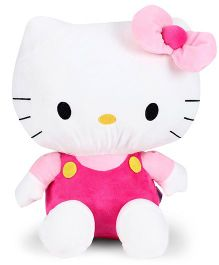 Hello Kitty Plush Soft Toy With Bow White And Pink - Height 35 cm