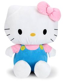 Hello Kitty Plush Soft Toy With Bow White And Light Blue - 35 cm