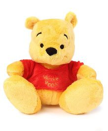 Winnie the Pooh Super Cute Cuddles Soft Toy Yellow & Red - 25 cm