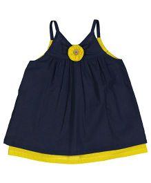 Yo Baby Floral Tank Dress - Blue & Yellow