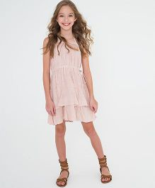 Yo Baby RuffleHem Halter Dress - Pink