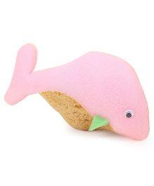 Fish Shaped Bath Sponge Pink - 20 cm