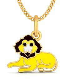 BlueStone 18kt Yellow Gold King of Jungle Pendant - Yellow