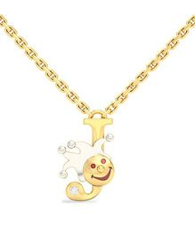 BlueStone 18kt Yellow Gold And Diamond J For Joker Necklace