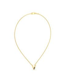 BlueStone 14kt Yellow Gold And Diamond V For Violin Necklace for Kids