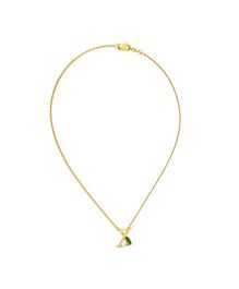 BlueStone 18kt Yellow Gold and Diamond X For X-Mas Tree Necklace For Kids