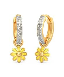 BlueStone 14kt Yellow Gold Yellow Flora Detachable Earrings - Yellow And Golden
