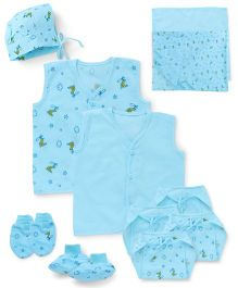 Babyhug Starter Set 12 Pieces - Blue