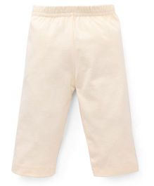 Red Ring Three Forth Leggings - Cream