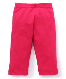 Red Ring Three Forth Leggings - Pink