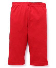 Red Ring Three Forth Leggings - Red